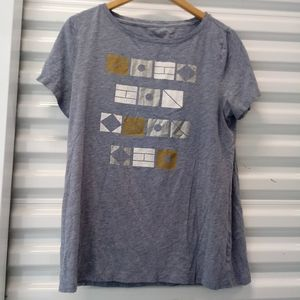 Tommy Hilfiger Top Burnout Graphic Soft Tee Shirt